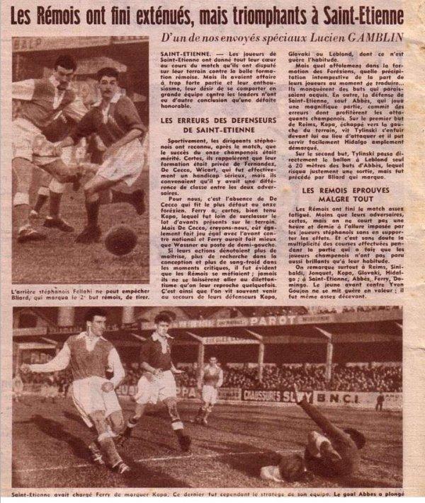 1954 D1 J20 SAINT ETIENNE REIMS 0-2, le 26 décembre 1954