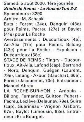2000 NAT J01 REIMS LA ROCHE sur Yon 2-2, le 5 août 2000