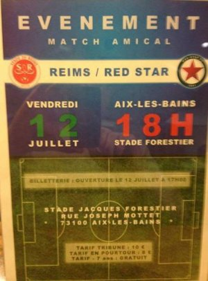 2013 AMICAL : REIMS RED STAR 2-2 , le 12 juillet 2013