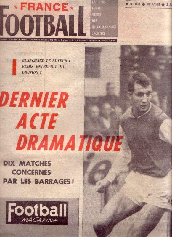 1967 D2 J36 REIMS ANGOULEME 6-0, le 28 juin 1968