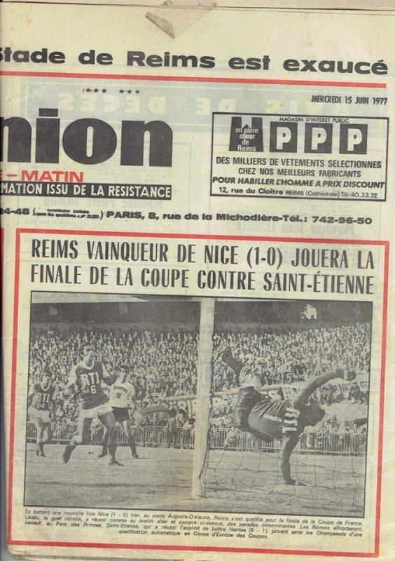1976 CDF02R  REIMS NICE 1-0, le 14 juin 1977