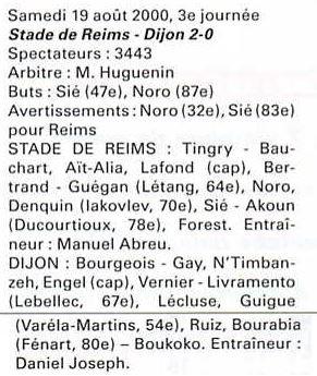 2000 NAT J03 REIMS DIJON 2-0, le 19 août 2000