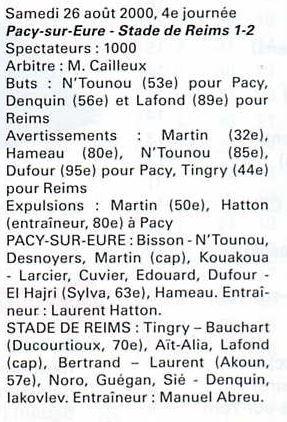 2000 NAT J04 PACY sur EURE REIMS  1-2, le 26 août 2000