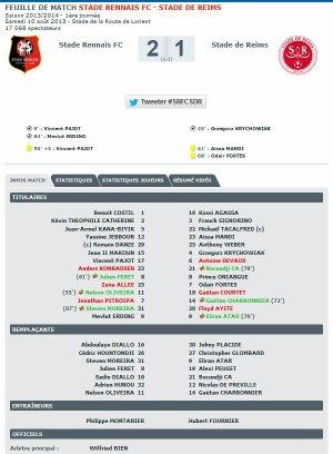 2013 Ligue 1 J01 RENNES REIMS 2-1, le 10 août 2013