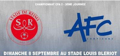 2013 CFA2 J03 REIMS B COMPIEGNE 3-0, le live, le 8 septembre 2013