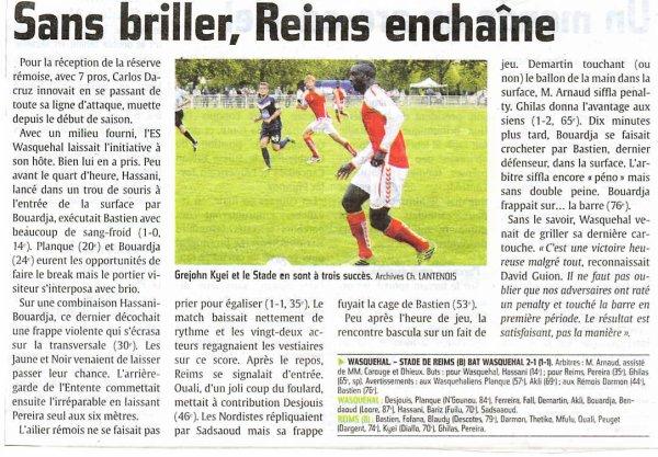 2013 CFA2 J04 WASQUEHAL REIMS 1-2, le 21 septembre 2013