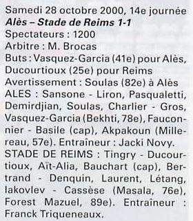 2000 NAT  J14 ALES REIMS 1-1, le 28 octobre 2000