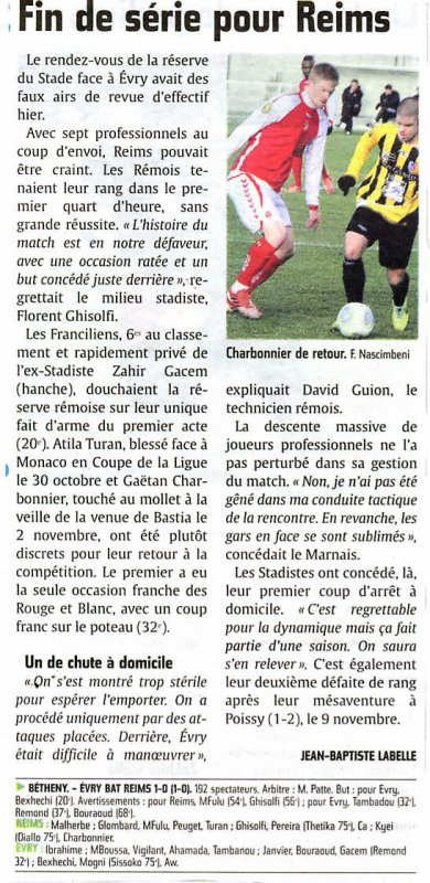 2013 CFA2 J09 REIMS EVRY 0-1 , le 24/11/2013
