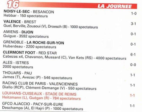 2000 NAT J16 LOUHANS CUISEAUX REIMS 1-1, le 18 novembre 2000