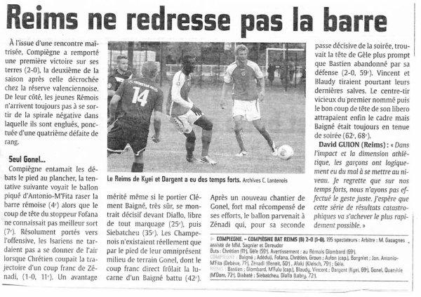 2013 CFA2 J14 COMPIEGNE REIMS B 2-0, le 25/01/2014
