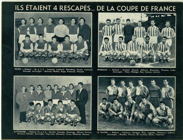 1959  CDF demi-finale REIMS MONACO 1-2, le 24 avril 1960