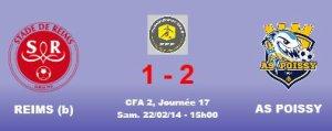 2013 CFA2 J17 REIMS B POISSY 1-2, le 22 février 2014