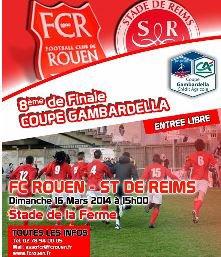 2013 GAMBARDELLA 8ème ROUEN REIMS, l'avant match, le 15 mars 2014
