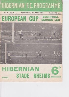 1955 CCC demi-finale : HIBERNIAN REIMS 0-1 ,le 18 avril 1956