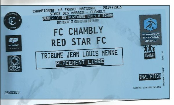 2014 NAT J14 CHAMBLY RED STAR 1-0, le 28/11/2014