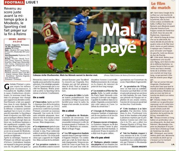 2014 Ligue 1 J15 REIMS BASTIA  2-1 le 29/11/2014