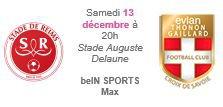 2014 Ligue 1 J18 REIMS EVIAN TG, l'avant match, le 12/12/2014
