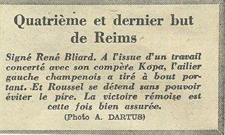 1955 CDF16 TOULOUSE REIMS 0-4, le 07/02/1956