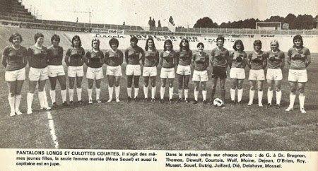 1974 REIMS : Foot Féminin , le 30/06/1975
