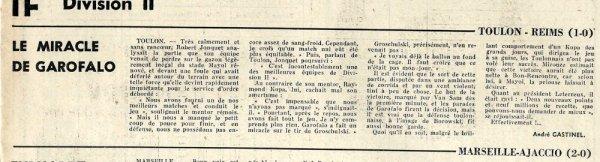 1965 D2 J10 TOULON REIMS 1-0, le 10/10/1965