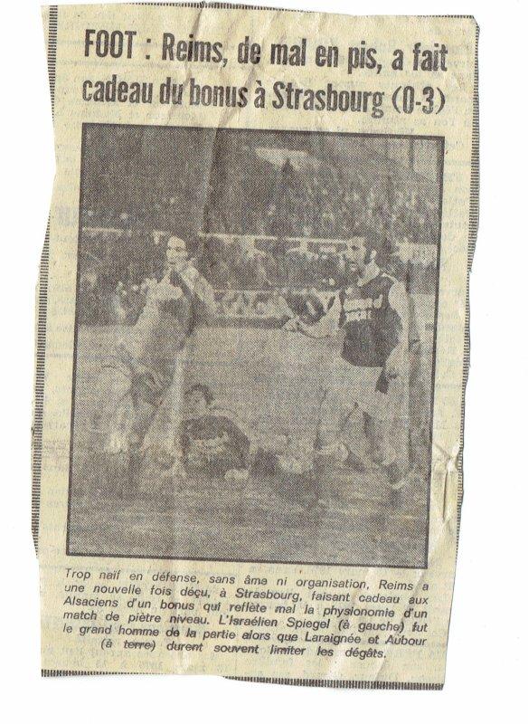 1974 D1 J30 STRASBOURG REIMS 3-0, le  15/03/1975