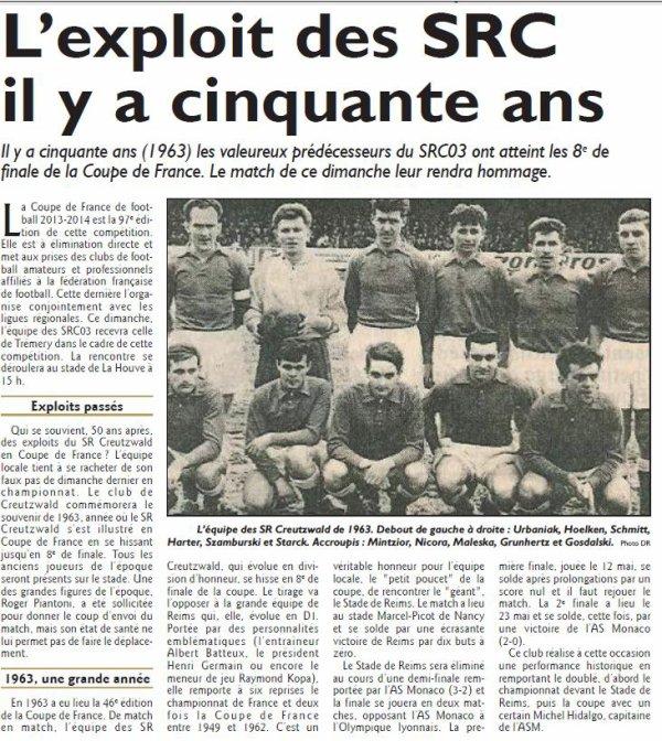 1962 CDF08 REIMS CREUTZWALD 10-0 , le 10/03/1963