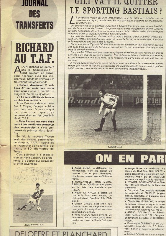 1975 REIMS, mercato : RICHARD file à TROYES 01/07/1975