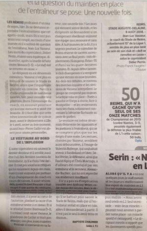 2014 REIMS  : Brèves du jour, le 25/03/2015