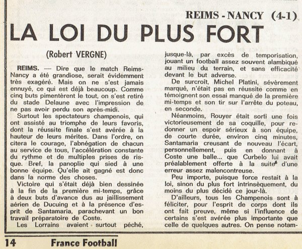 1977 D1 J24 REIMS NANCY 4-1, le 15/01/1978