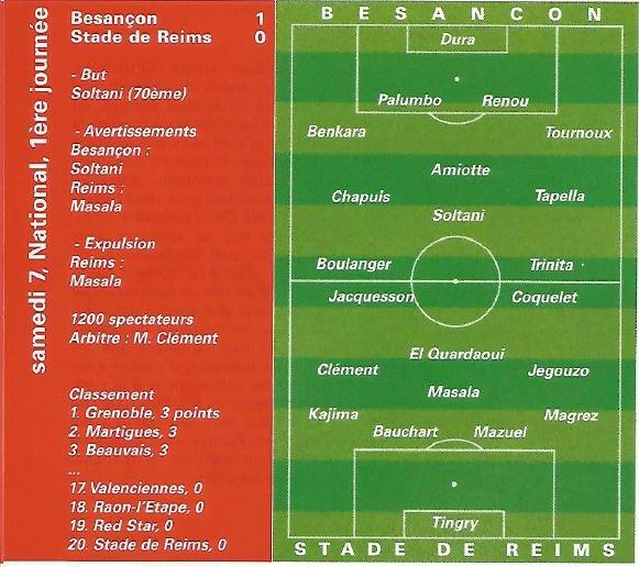 1999 NAT J01 BESANCON REIMS 1-0, le 07/08/1999