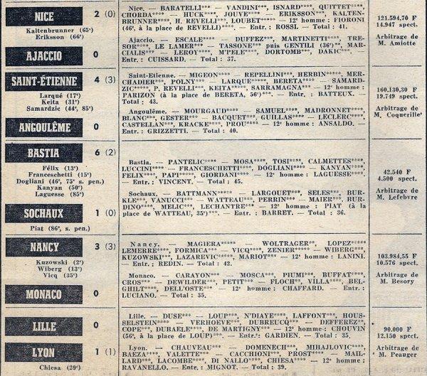 1971 D1 J05 NÎMES REIMS 2-1, le 01/09/1971