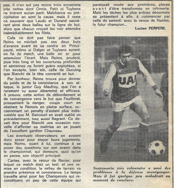 1976 CDF08 Aller REIMS MONACO 2-0, le 08/04/1977