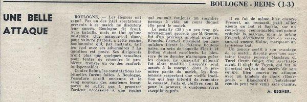 1967 D2 J16 BOULOGNE REIMS 1-3, le 19/11/1967