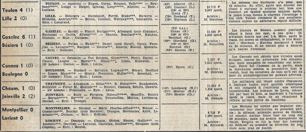 1968 D2 J23 AIX en PROVENCE REIMS 4-2, le 26/01/1969