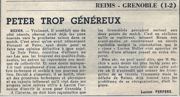 1968 D2 J41 REIMS GRENOBLE 1-2, le 07/06/1969