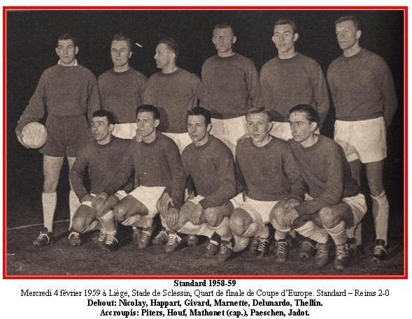 1958 CECC 1/4 Aller : STANDARD REIMS 2-0, le 04/02/1959