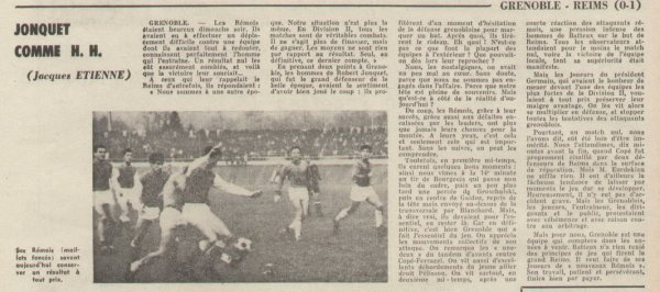 1965 D2 J16 GRENOBLE REIMS 0-1, le 21/11/1965