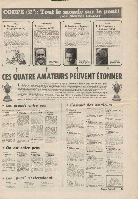 1962 CDF32 REIMS CALAIS 4-0, le 20/01/1963