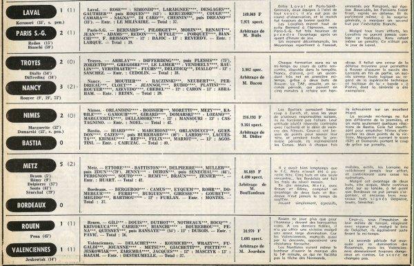 1977 D1 J32 NANTES REIMS 3-1, le 25/03/1978