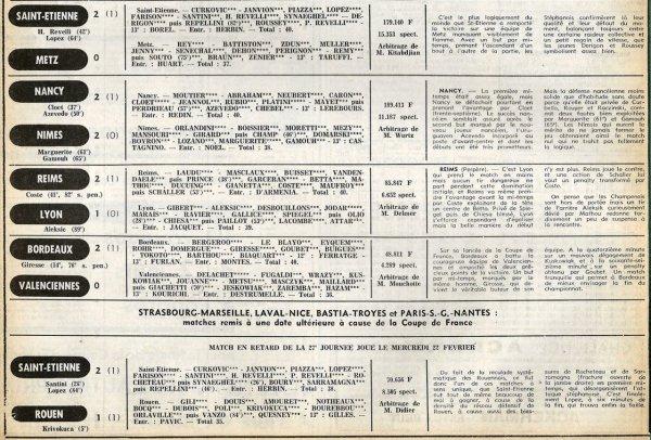 1977 D1 J29 REIMS LYON 2-1, le 26/02/1978