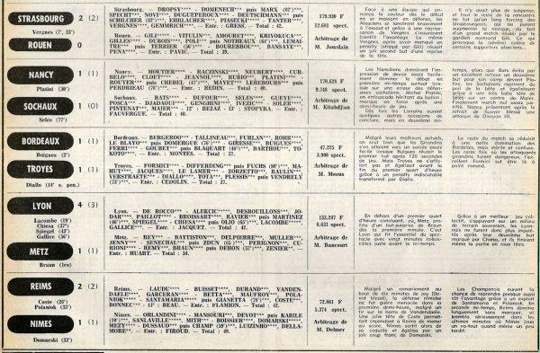 1977 D1 J16 REIMS NÎMES 2-1, le 09/11/1977