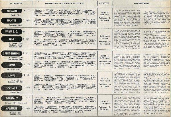 1977 D1 J10 REIMS VALENCIENNES 3-0, le 01/10/1977