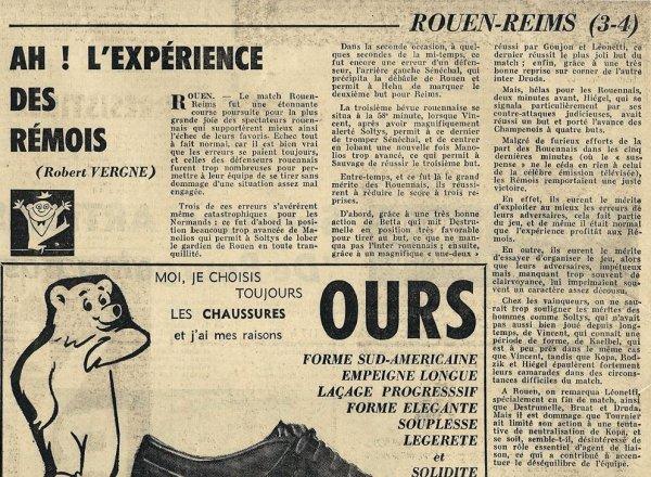 1963 D1 J05 ROUEN REIMS 3-4, le 06/10/1963