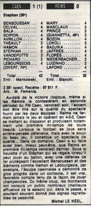1985 D2B J10 CAEN REIMS 1-0, le 13/09/1985