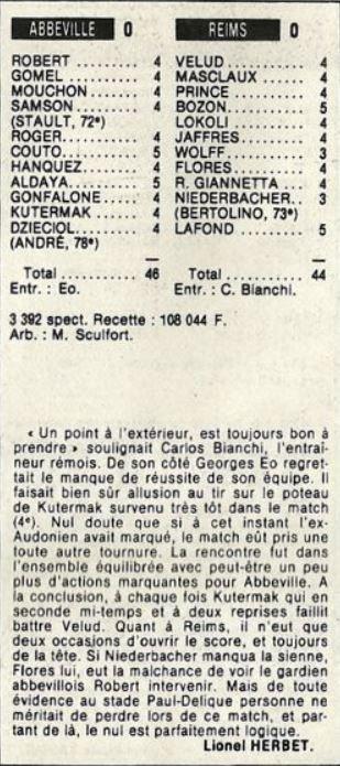 1985 D2B J12 ABBEVILLE REIMS 0-0, le 27/09/1985