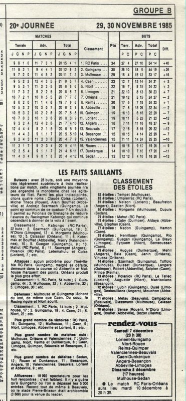 1985 D2B J20 ORLEANS REIMS 4-1, le 29/11/1985