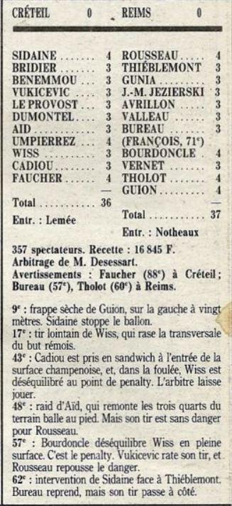 1990 D2B J24 CRETEIL REIMS 0-0, le 02/02/1991