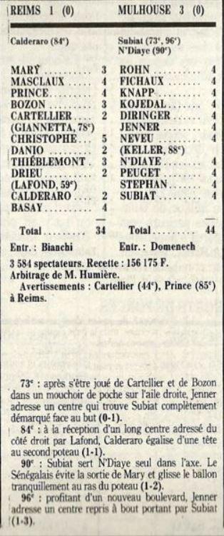 1987 D2B J26 REIMS MULHOUSE 1-3, le 18/03/1988