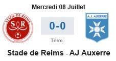 2015 AMICAL : REIMS AUXERRE 0-0, le 08/07/2015