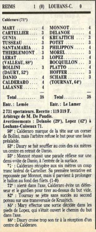 1989 D2A J05 REIMS LOUHANS-CUISEAUX 1-0, le 12/08/1989